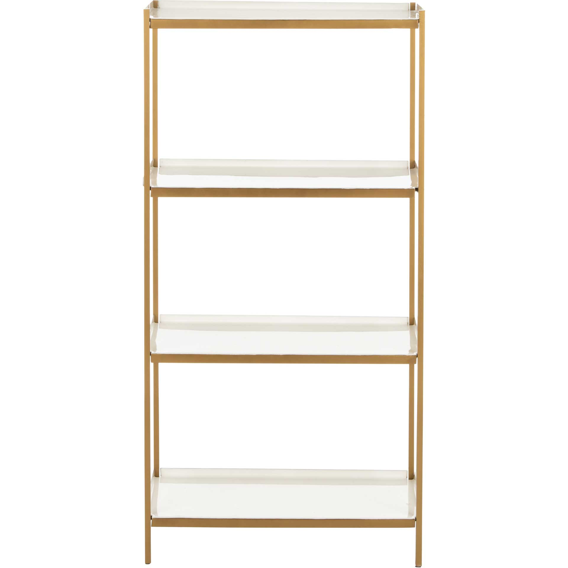Darby 4 Tier Etagere White/Brass