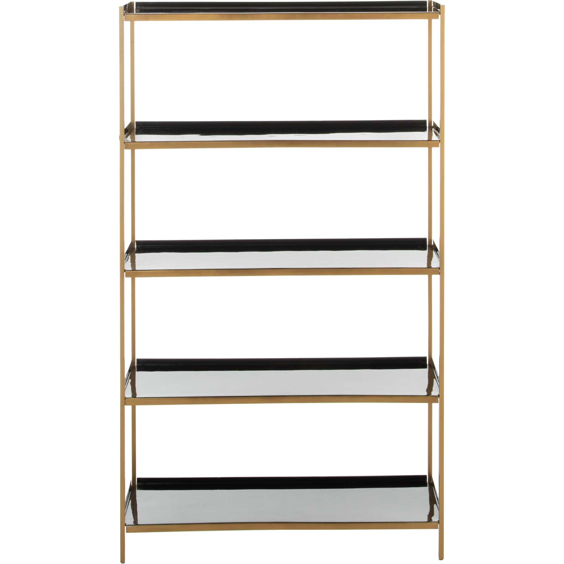 Judson 5 Tier Etagere Black/Brass