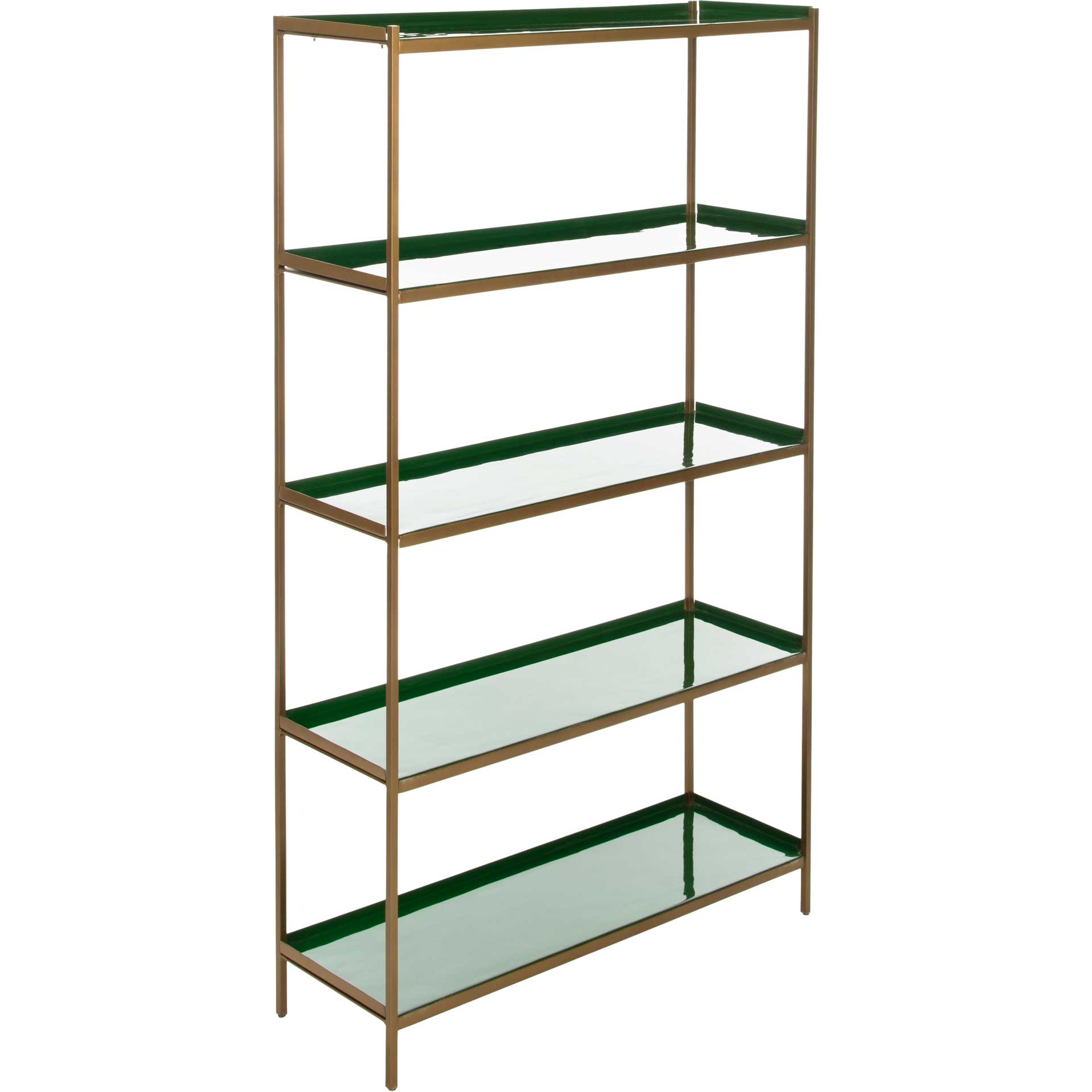 Judson 5 Tier Etagere Green/Brass