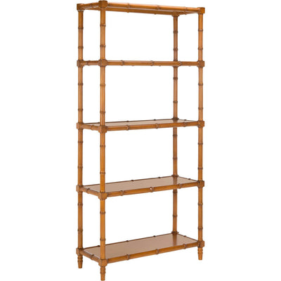 Eban Modern Coastal 4 Tier Etagere Brown