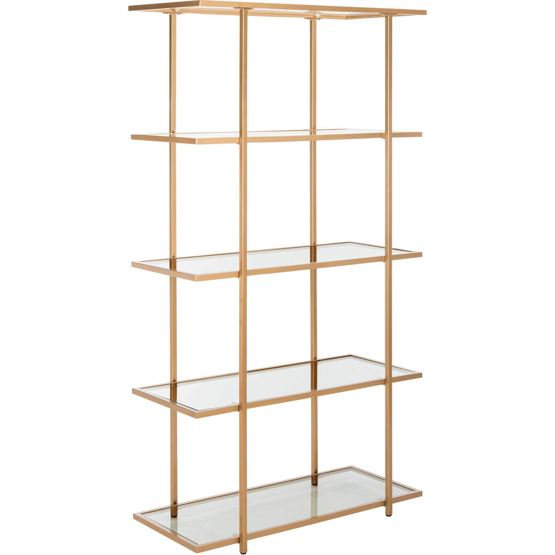 Franco 5 Tier Etagere Gold/Clear