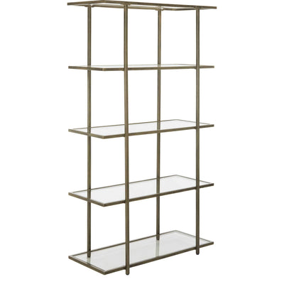 Franco 5 Tier Etagere French Silver/Clear