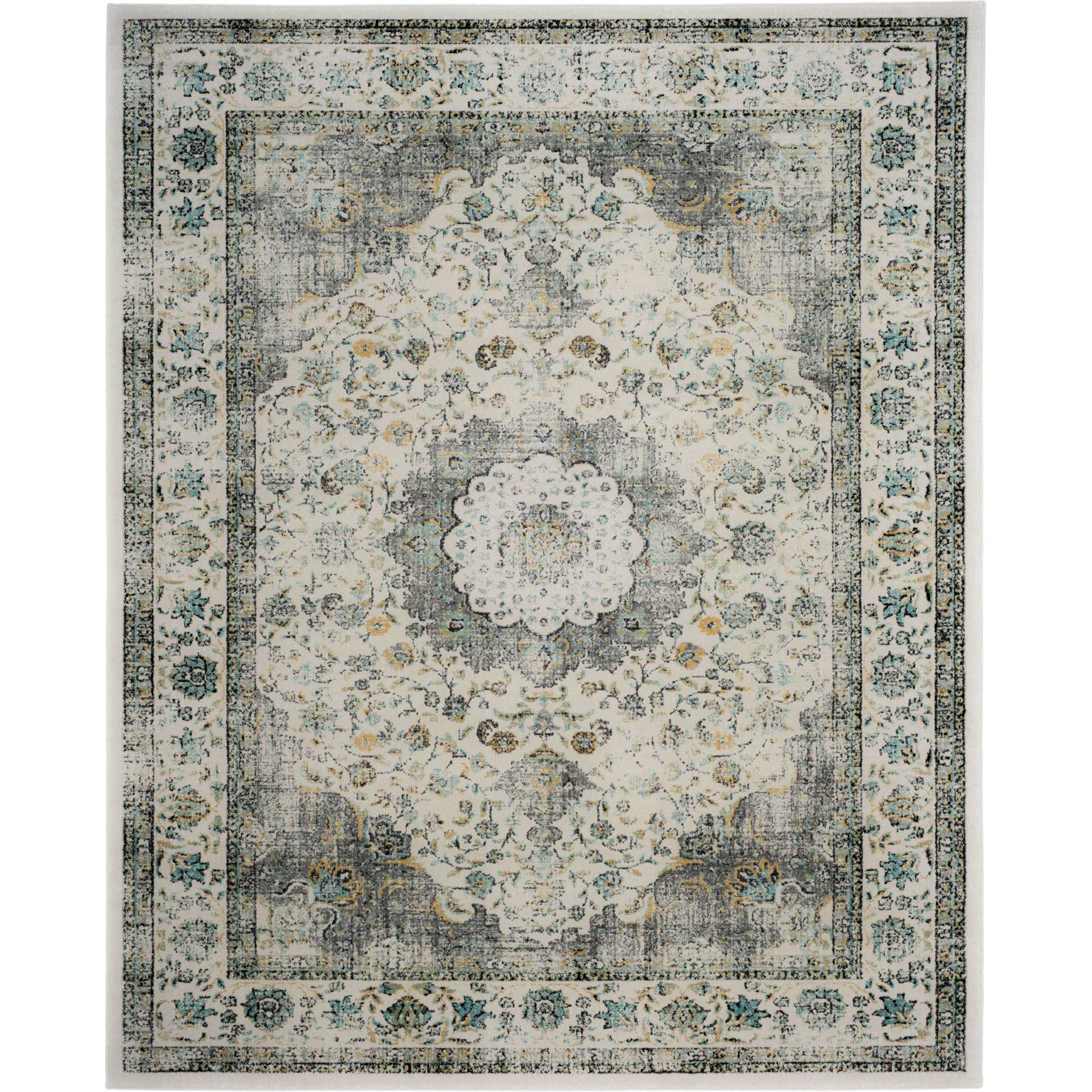 Evoke Medallion Gray/Gold Area Rug