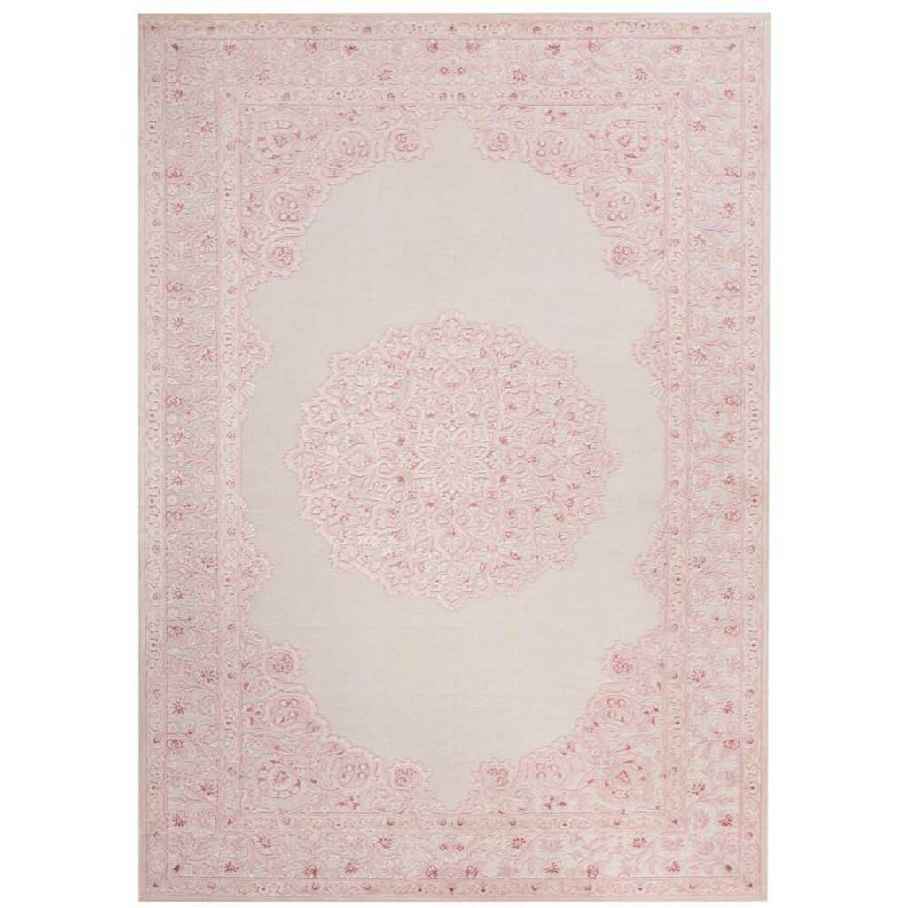 Fables Malo Ivory/Pink Area Rug