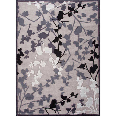 Fables Enchanted Chenille Gray Area Rug