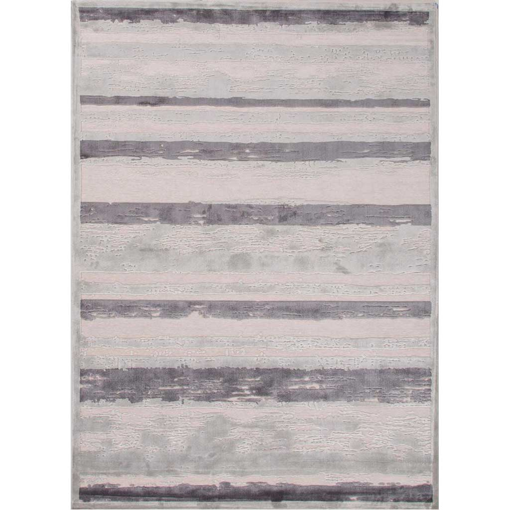 Fables Dazzle Light Gray/Plum Kitten Area Rug