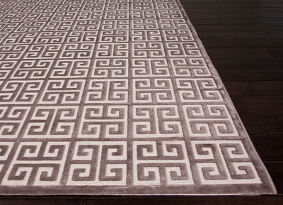 Fables Greek Plum Kitten/Light Gray Area Rug