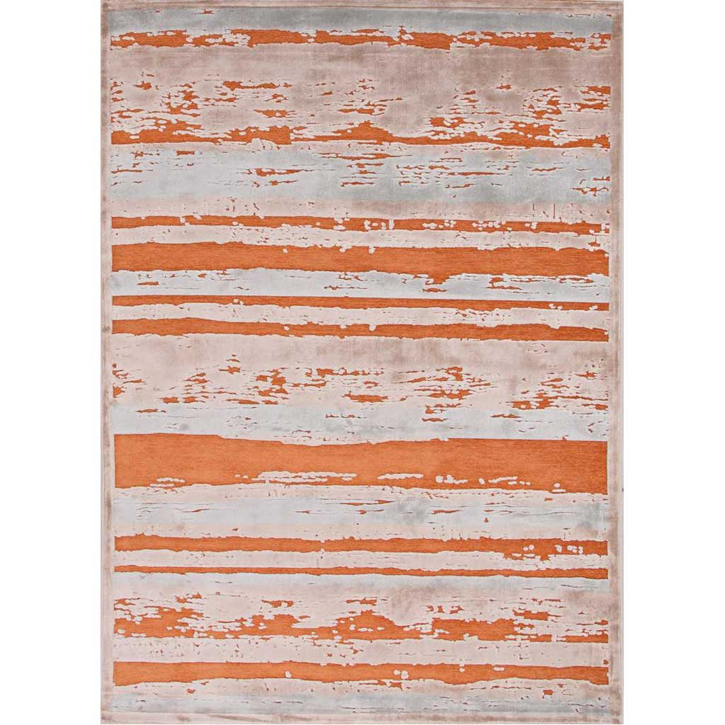 Fables Dazzle Apricot Orange/Barely Blue Area Rug