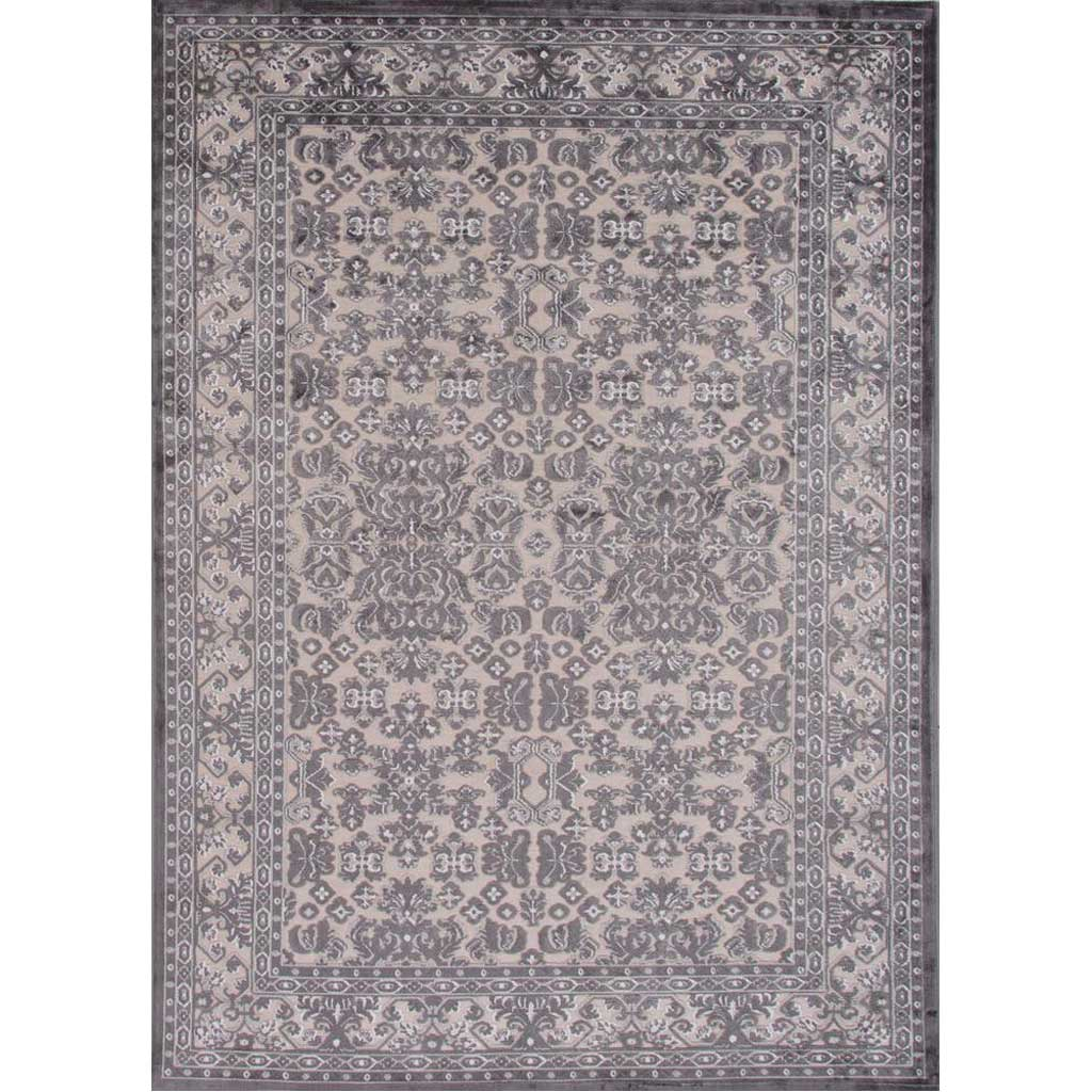 Fables Regal Light Gray/Plum Kitten Area Rug