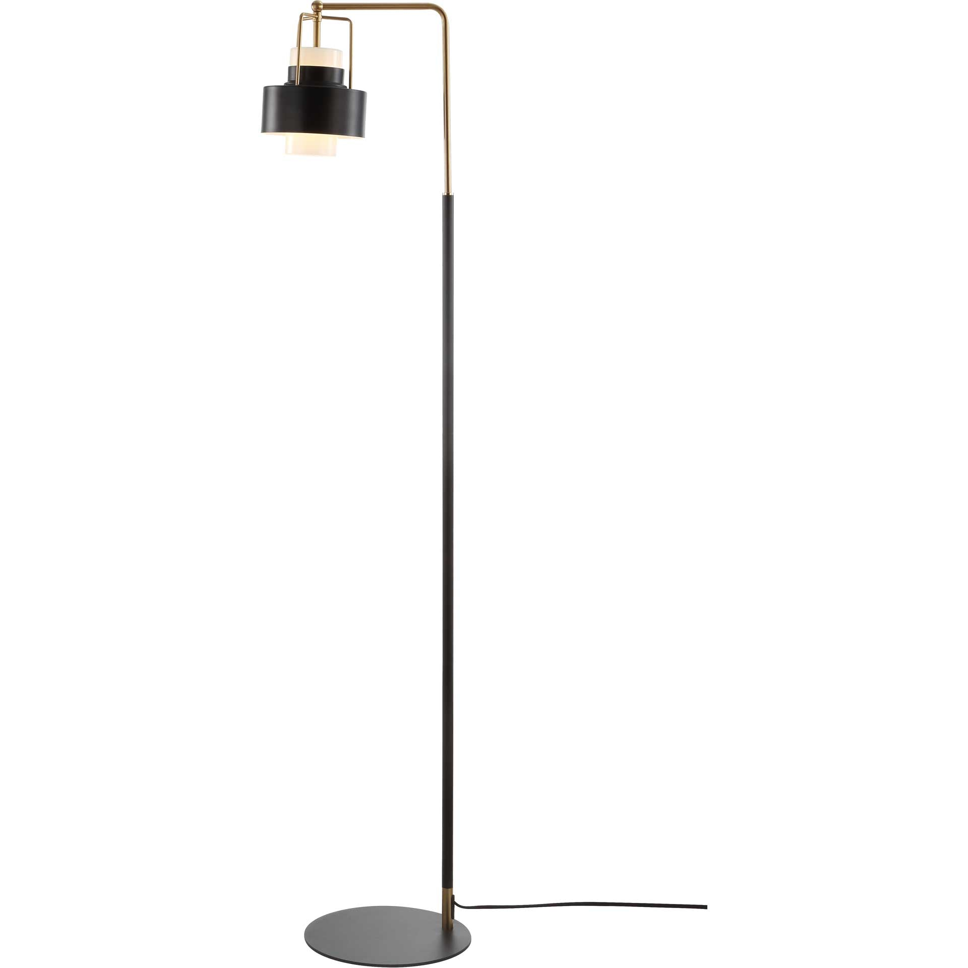 Brayden Floor Lamp Black/Brass Gold
