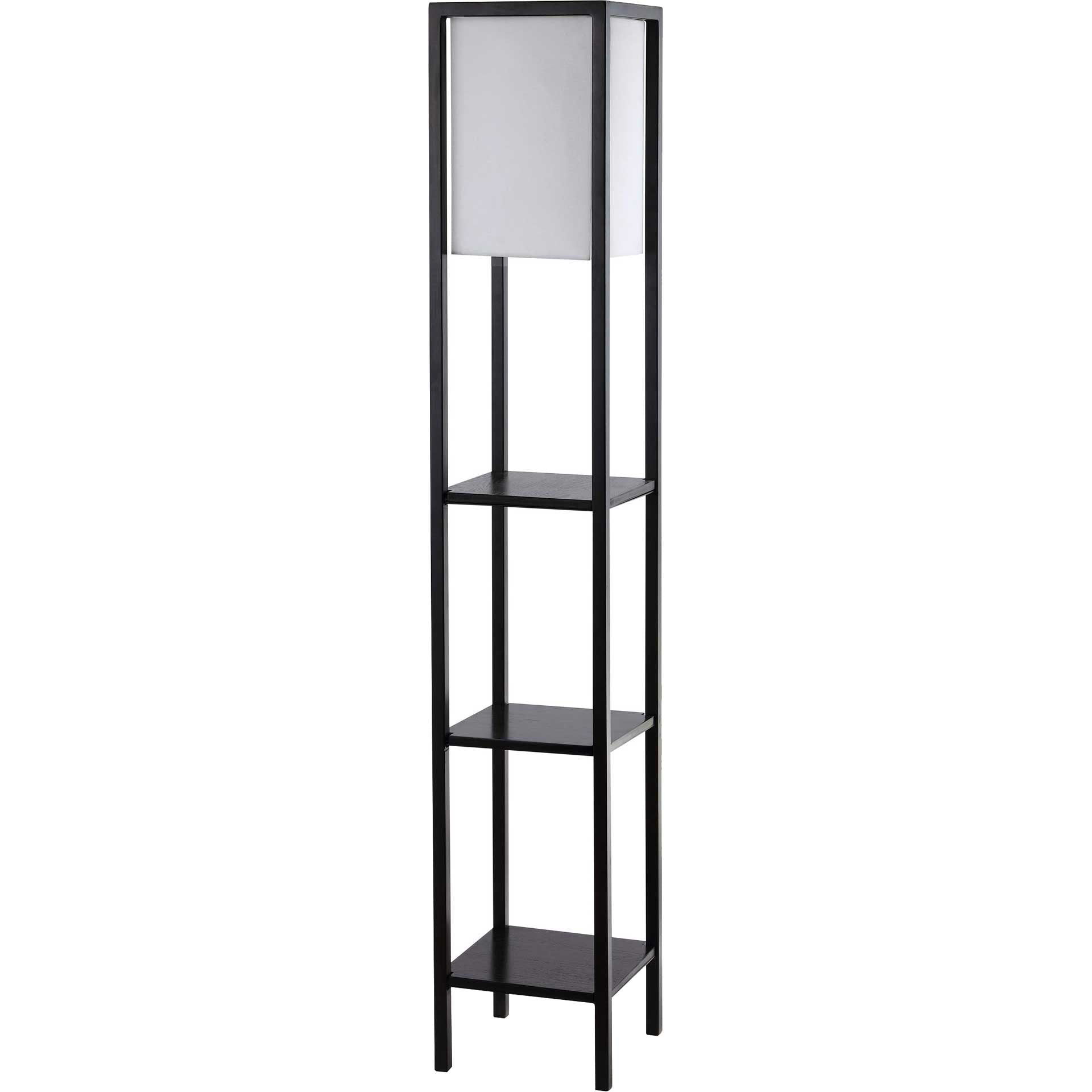 Riley Shelf Floor Lamp Black