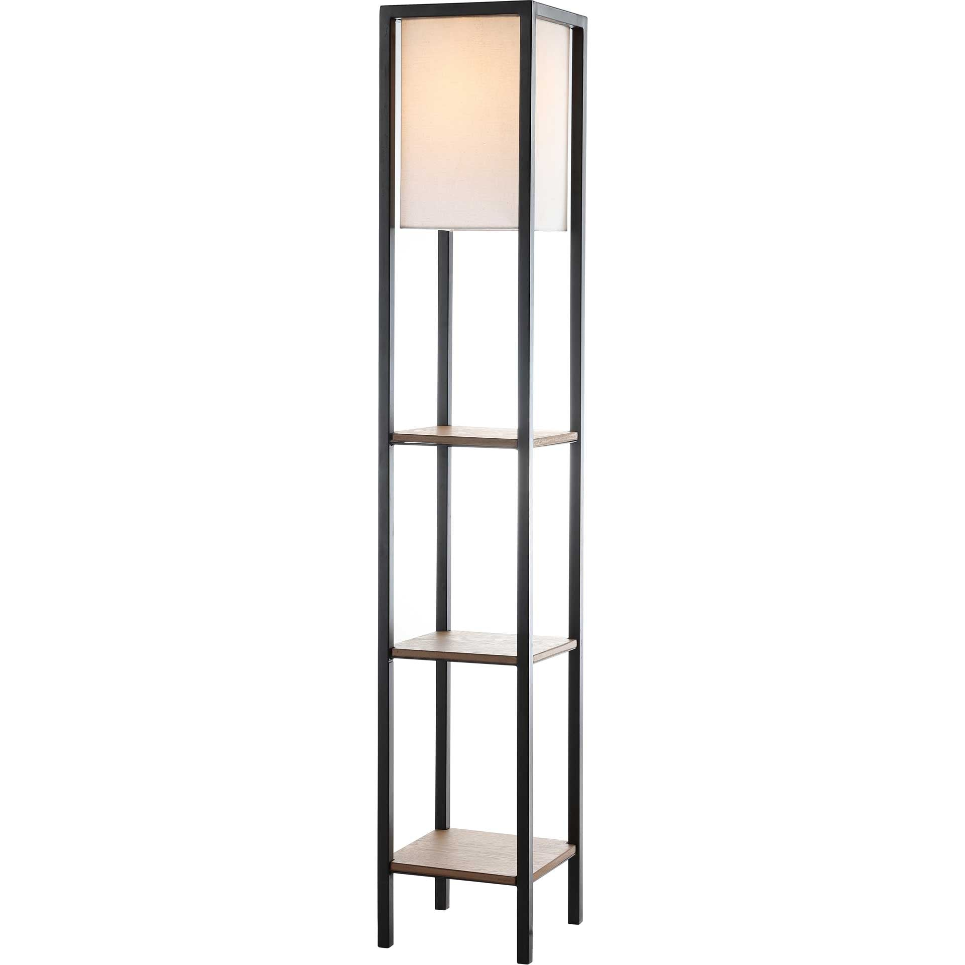 Riley Shelf Floor Lamp Light Brown/Black