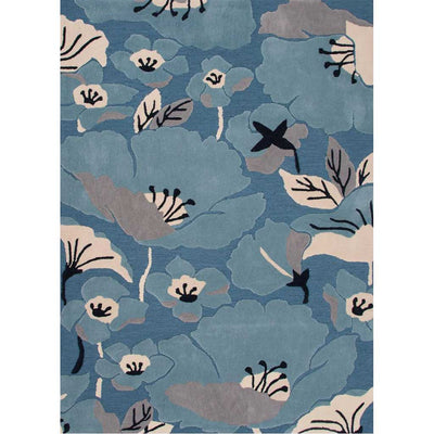 Flora Shoot Blue Heaven/Pearled Ivory Area Rug