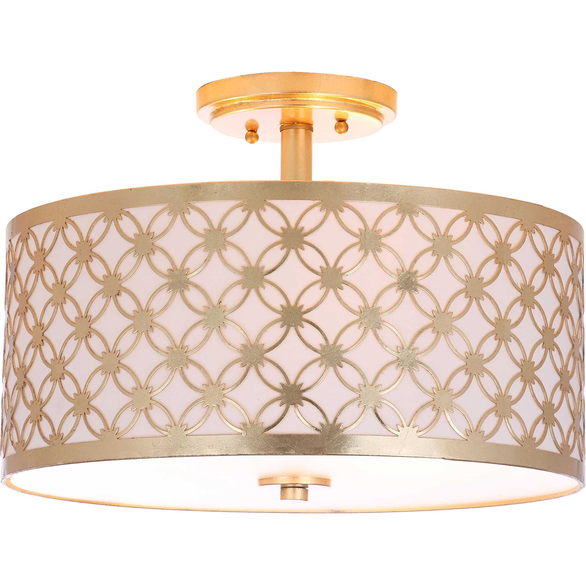 Huntley 3 Light Gold Flush Mount Gold