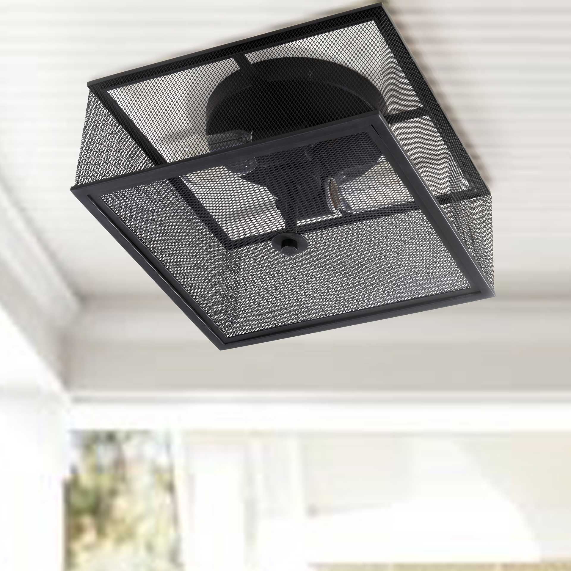 Hacienda Flush Mount Black
