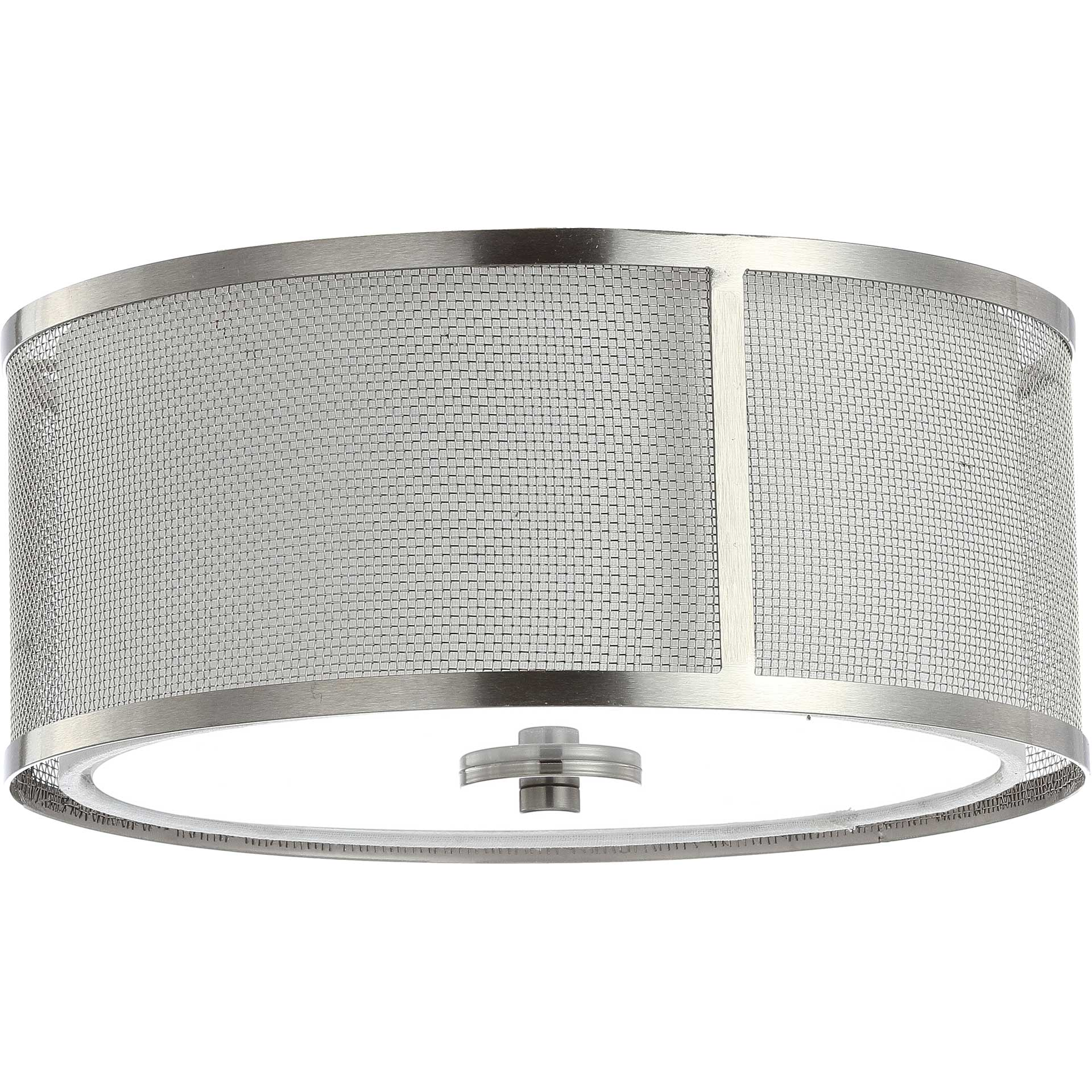 Elaina Flush Mount Nickel/White