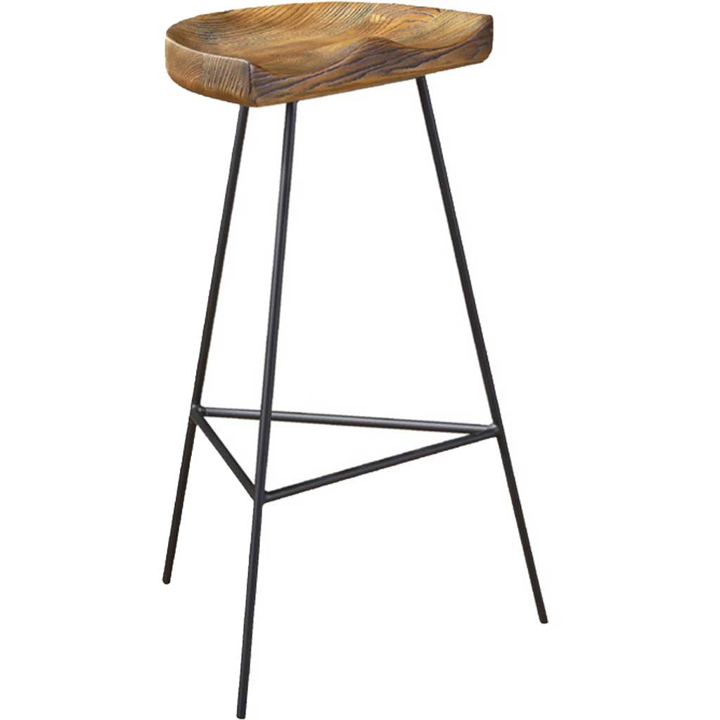 Stylish Wood Counter Stool