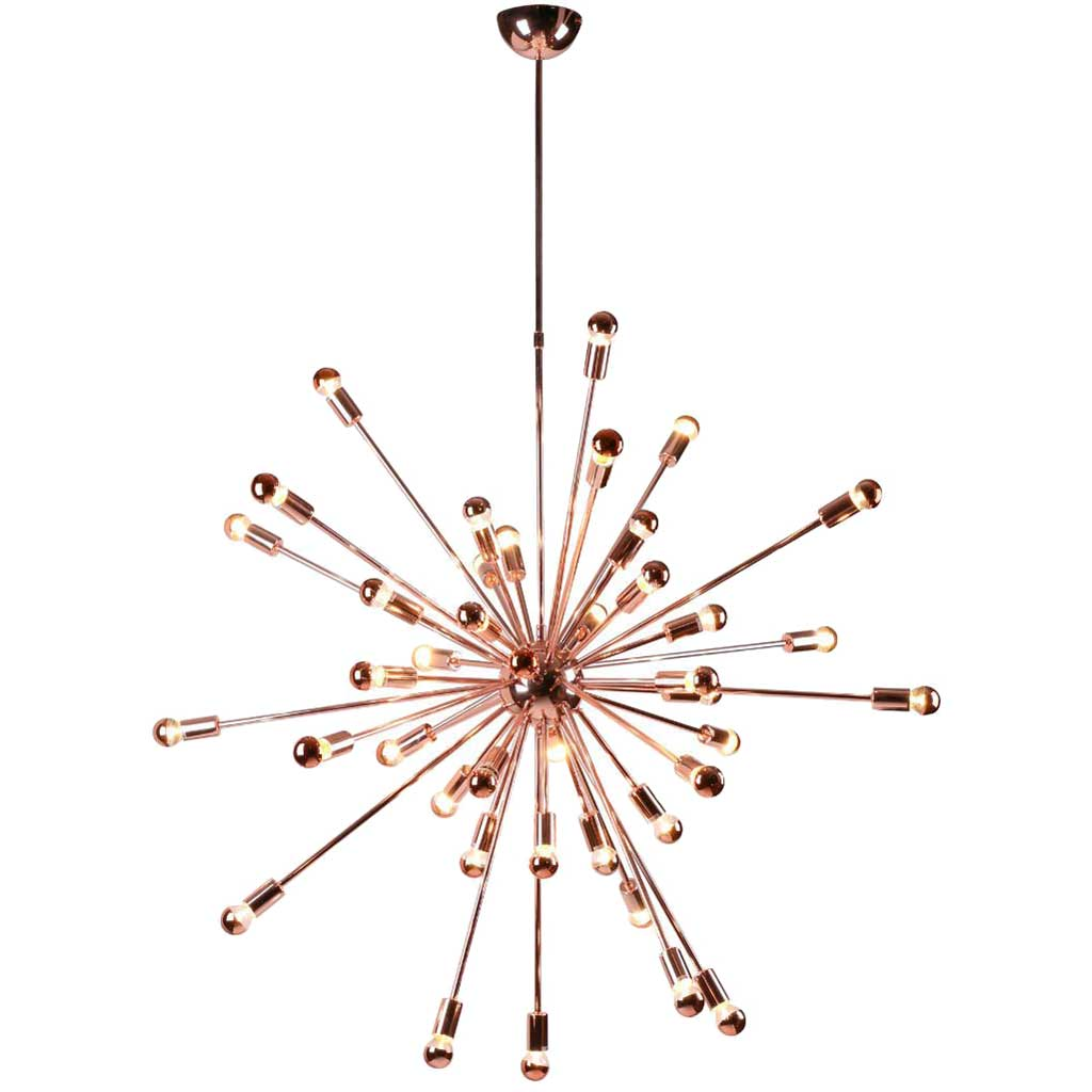 Space Hanging Chandelier Copper