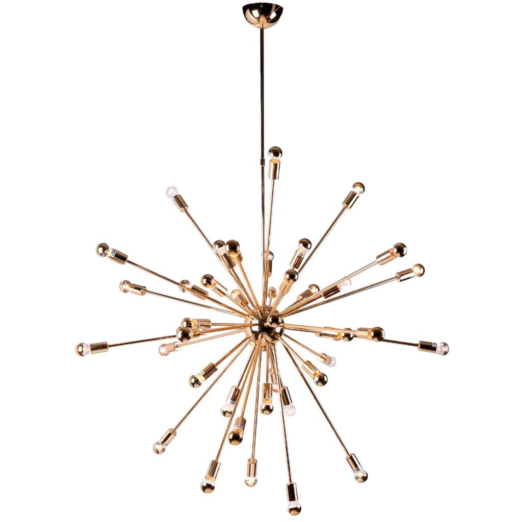 Space Hanging Chandelier Gold