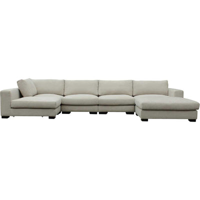 Colombia Sectional Cream White