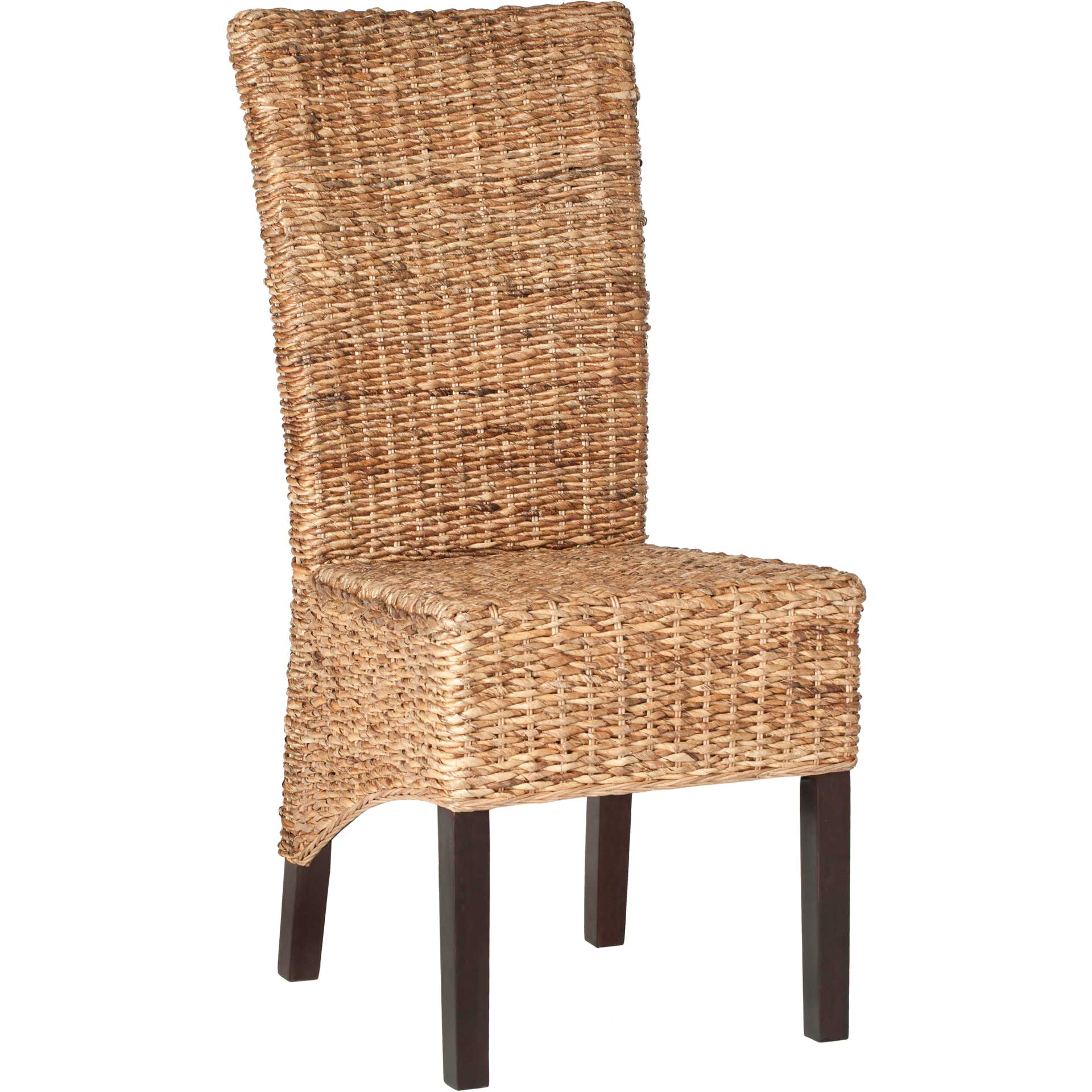 Kisii Rattan Side Chair Natural/Dark Brown (Set of 2)
