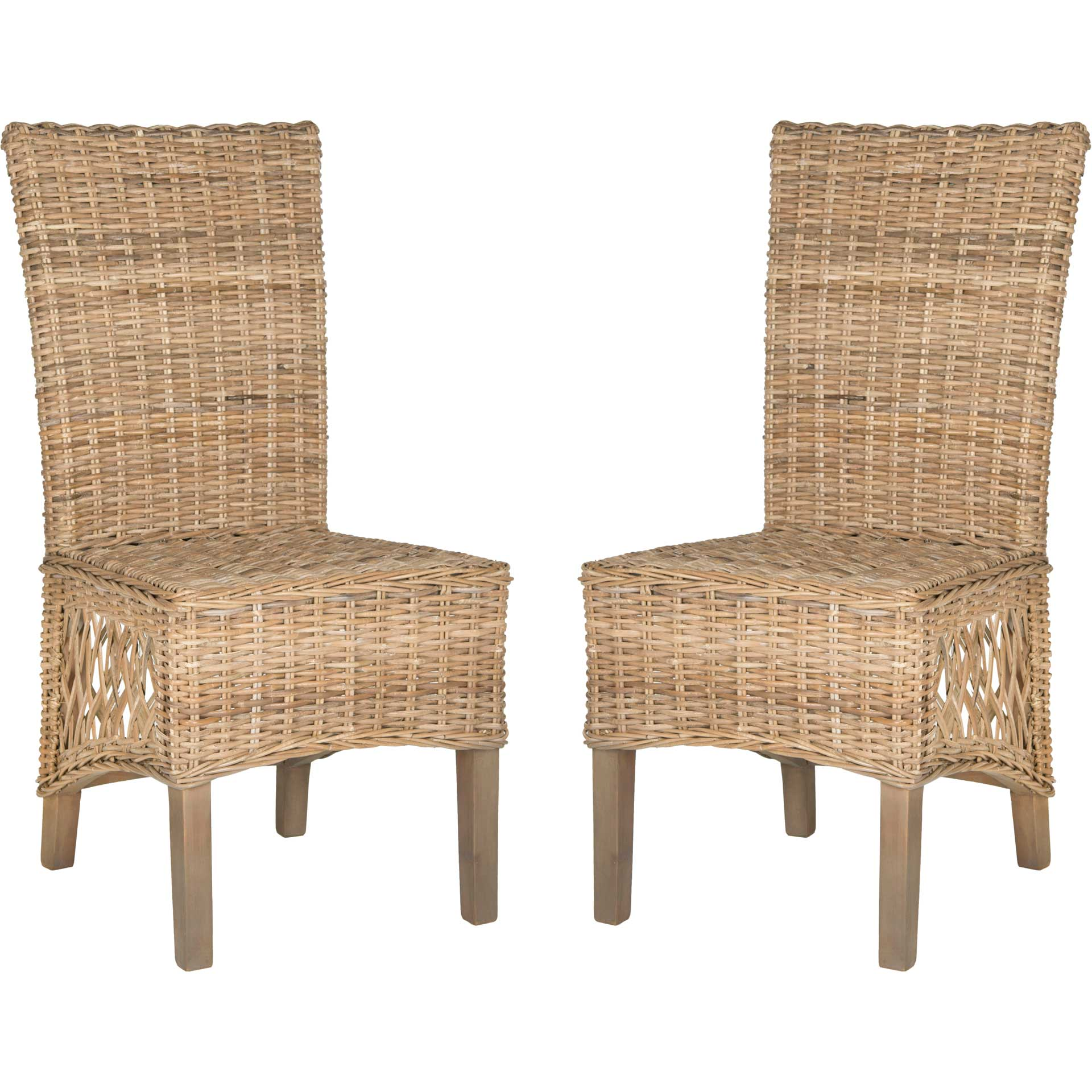 Sublime Rattan Side Chair Natural (Set of 2)