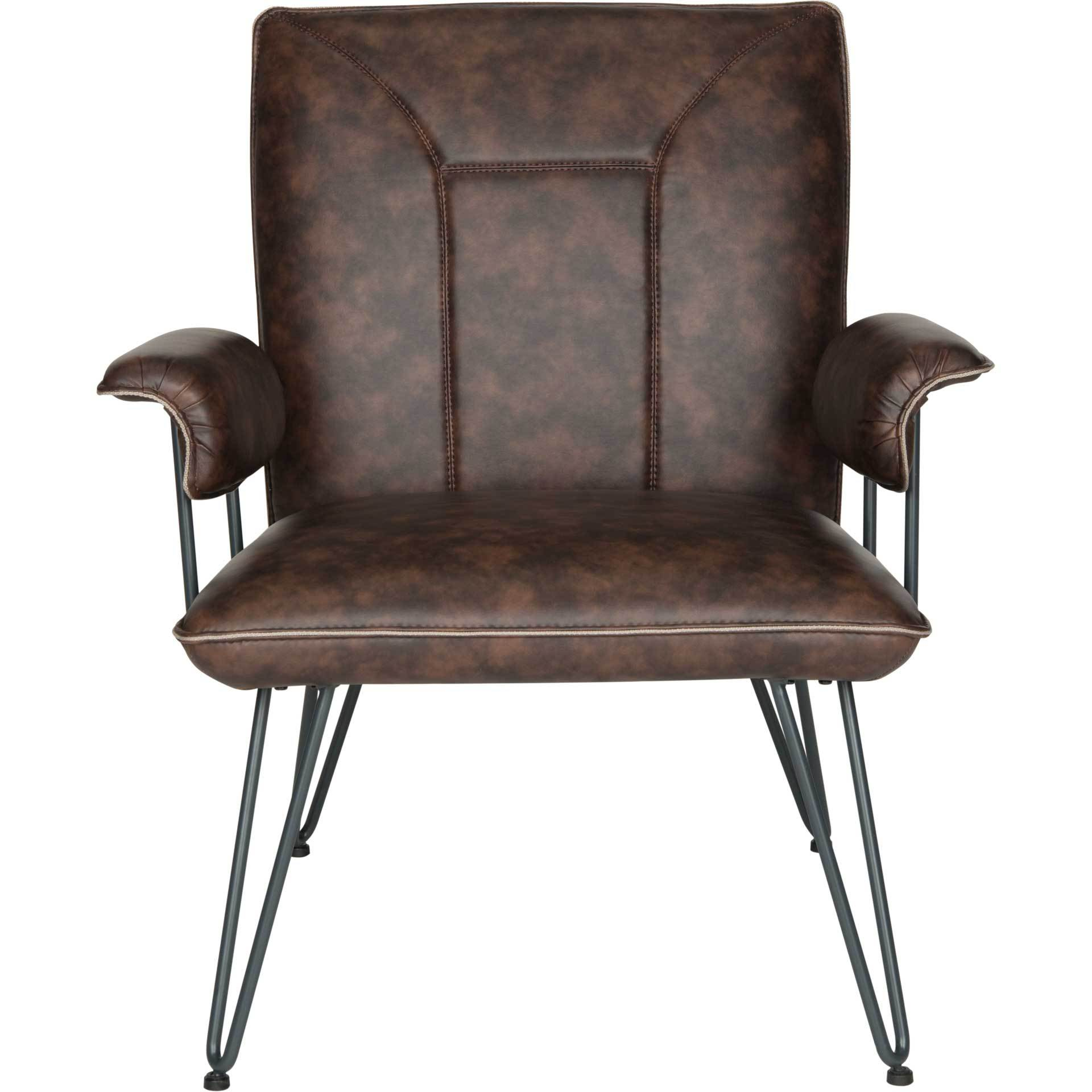 Jonah Leather Arm Chair Antique Brown