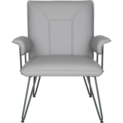 Jonah Leather Arm Chair Gray