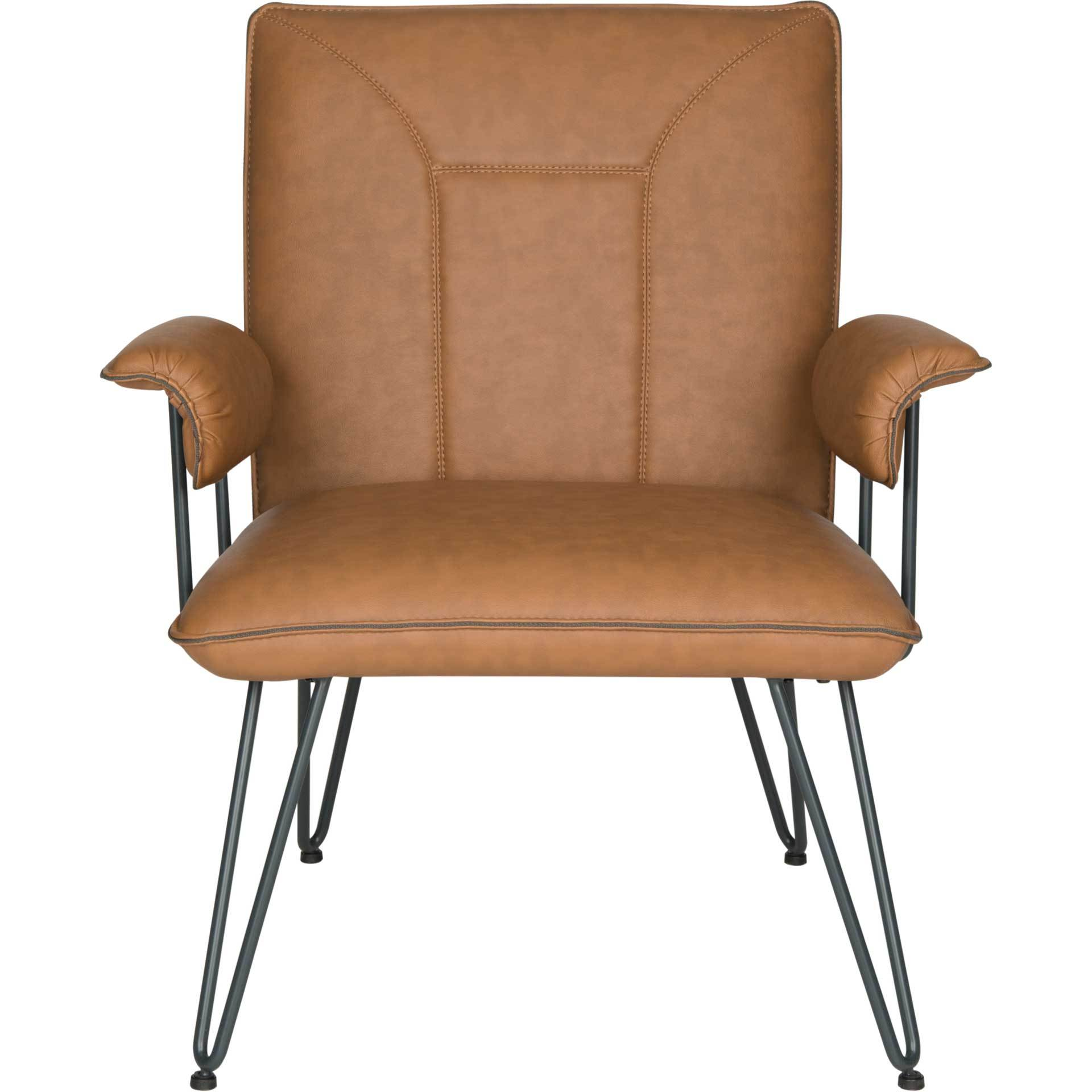 Jonah Leather Arm Chair Camel
