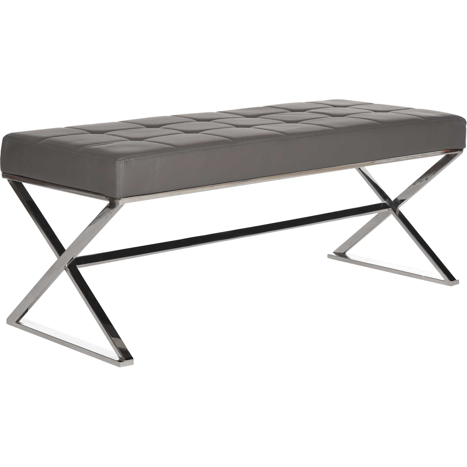 Mingle Bench Gray/Chrome