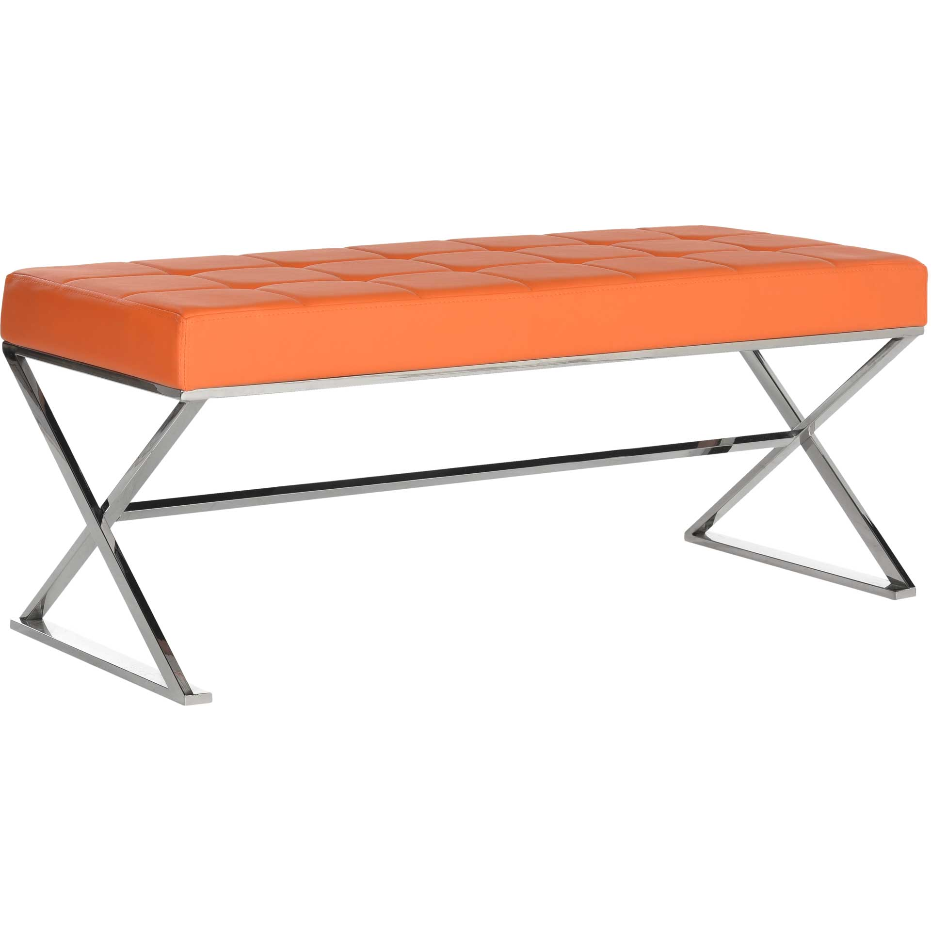 Mingle Bench Orange/Chrome
