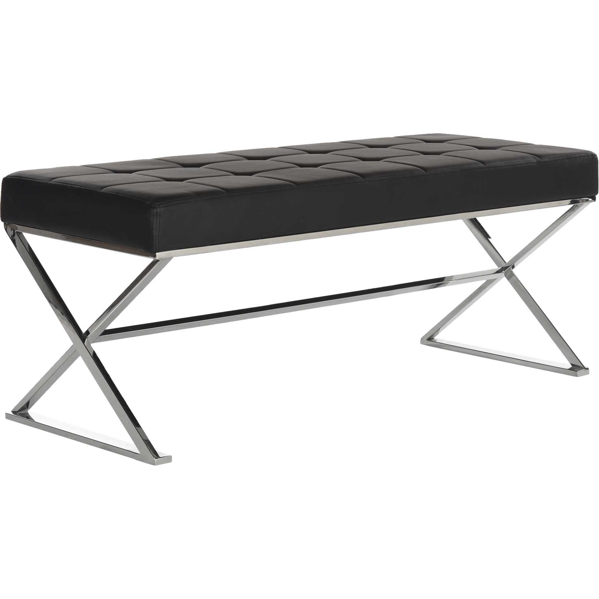 Mingle Bench Black/Chrome