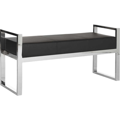 Sloan Bench Black/Chrome