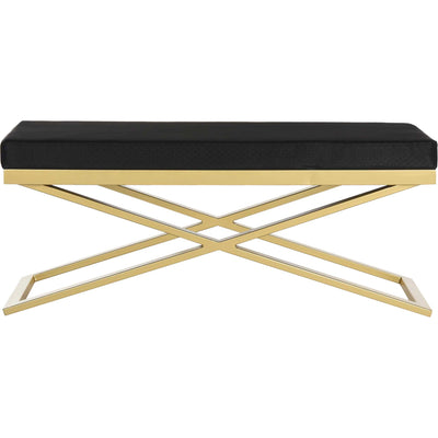 Achilles Bench Black/Gold/Gold