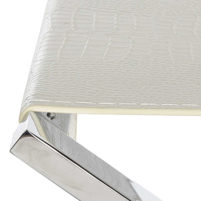 Ventura Bench White/Crocodile/Chrome