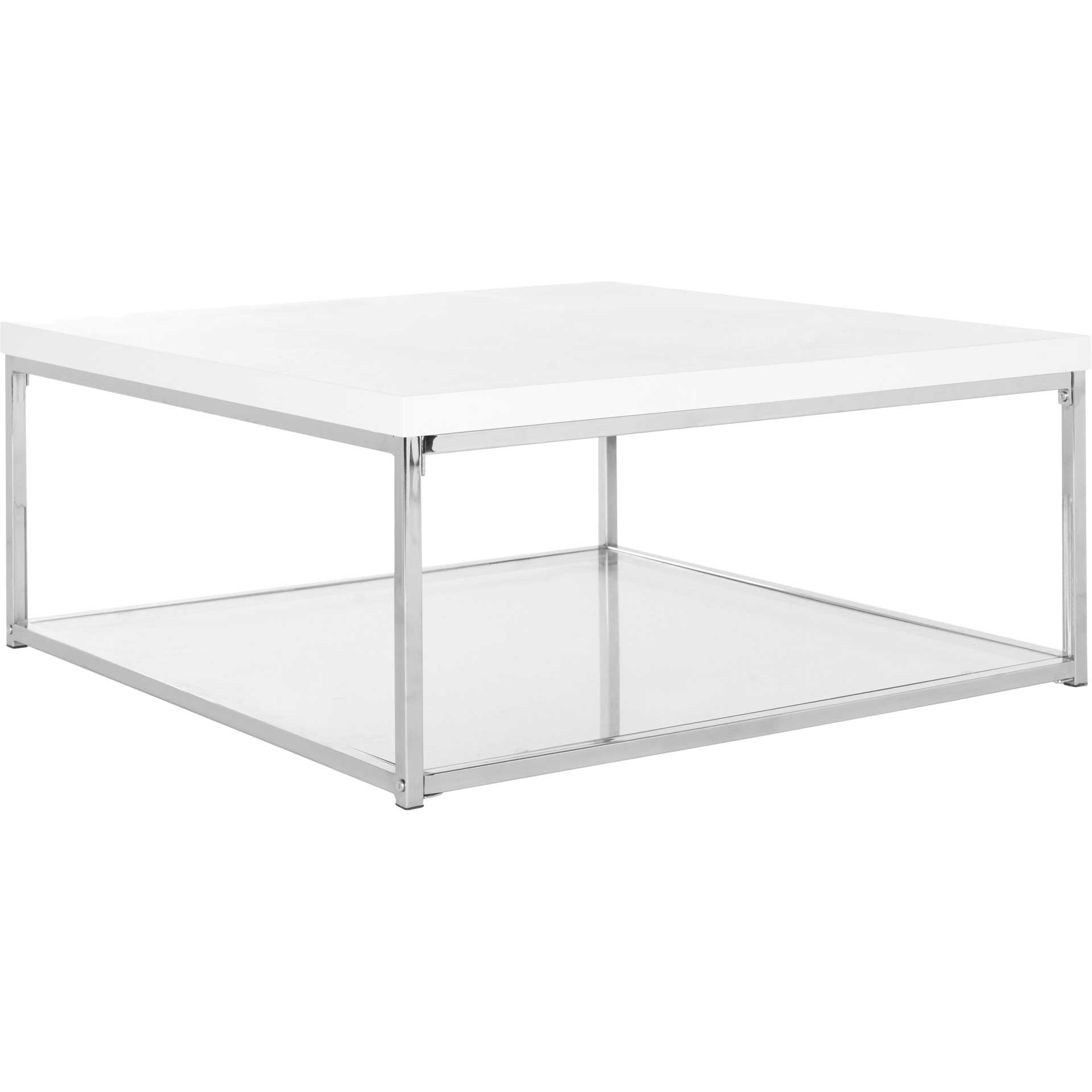 Mark Chrome High Gloss Coffee Table White/Chrome
