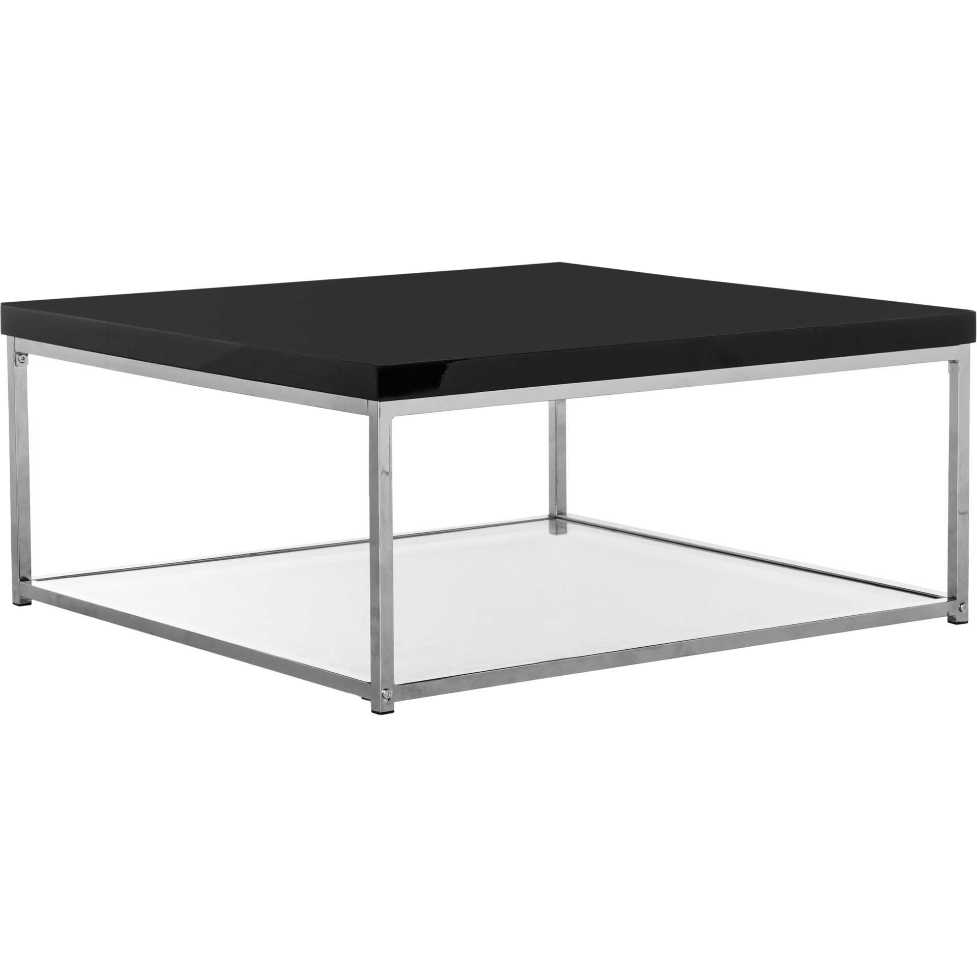 Mark Chrome High Gloss Coffee Table Black/Chrome