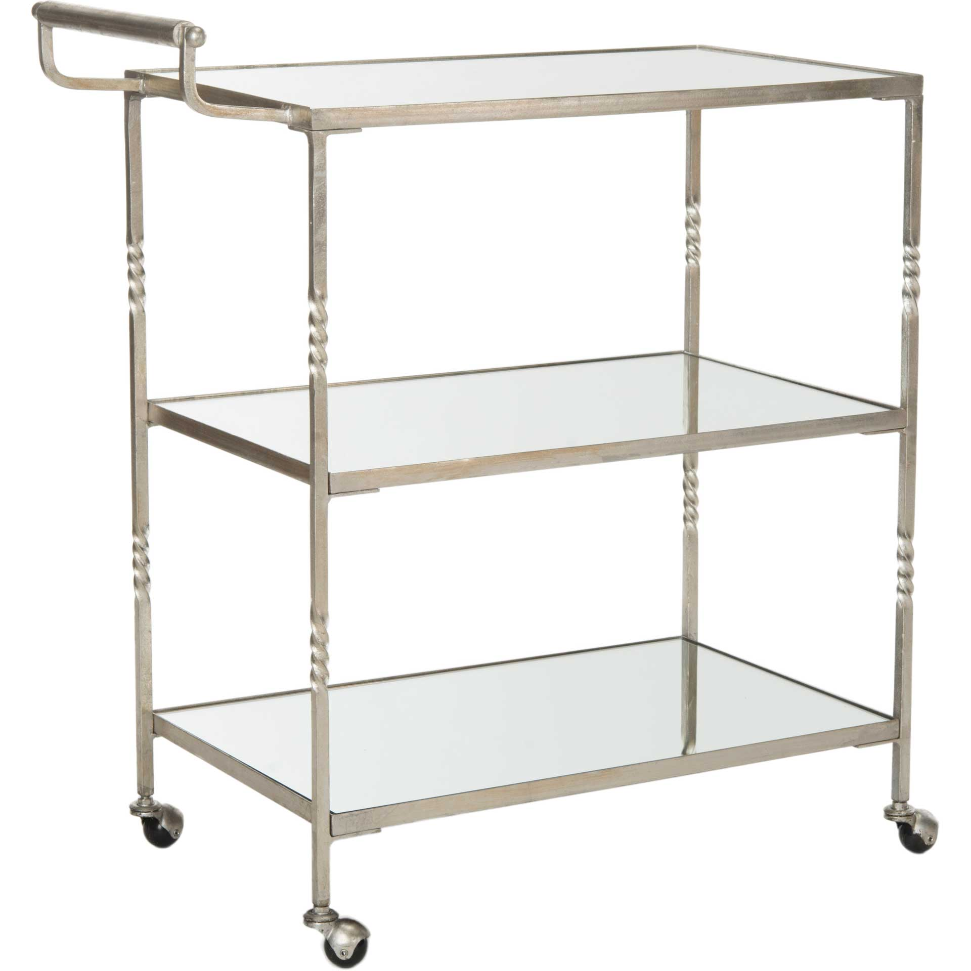 Audrina Bar Cart Silver