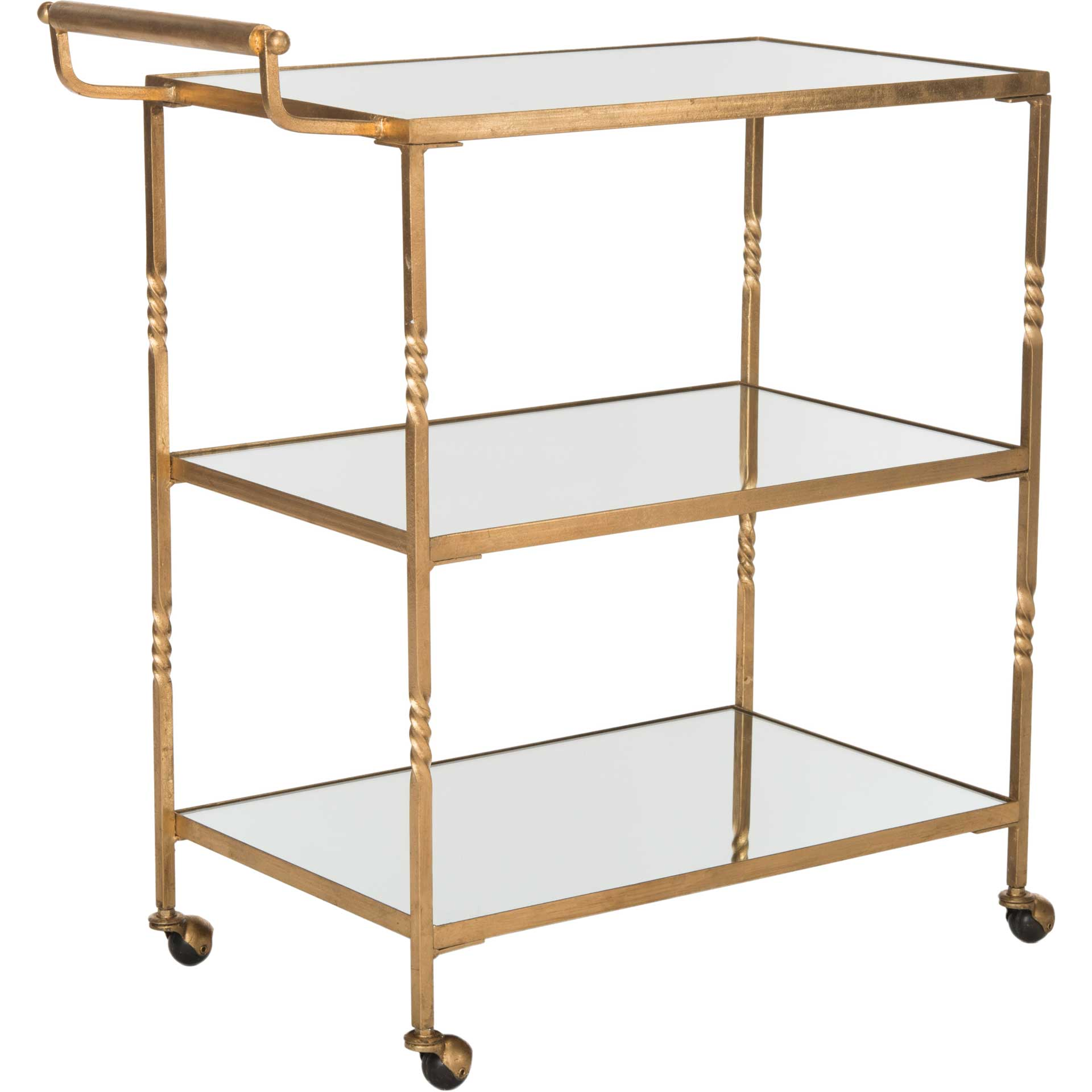 Audrina Bar Cart Gold