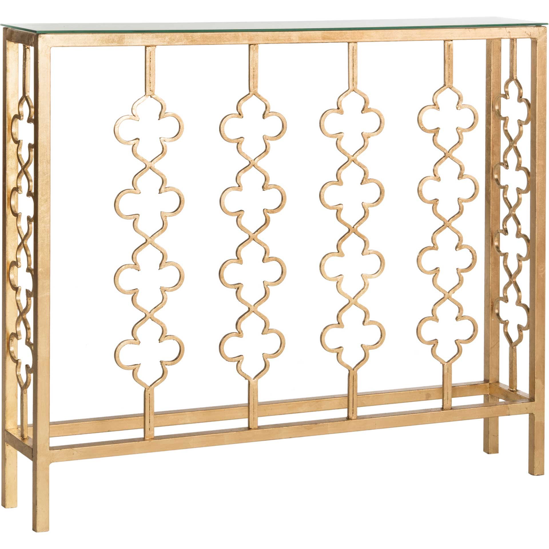 Carmelo Console Table Antique Gold