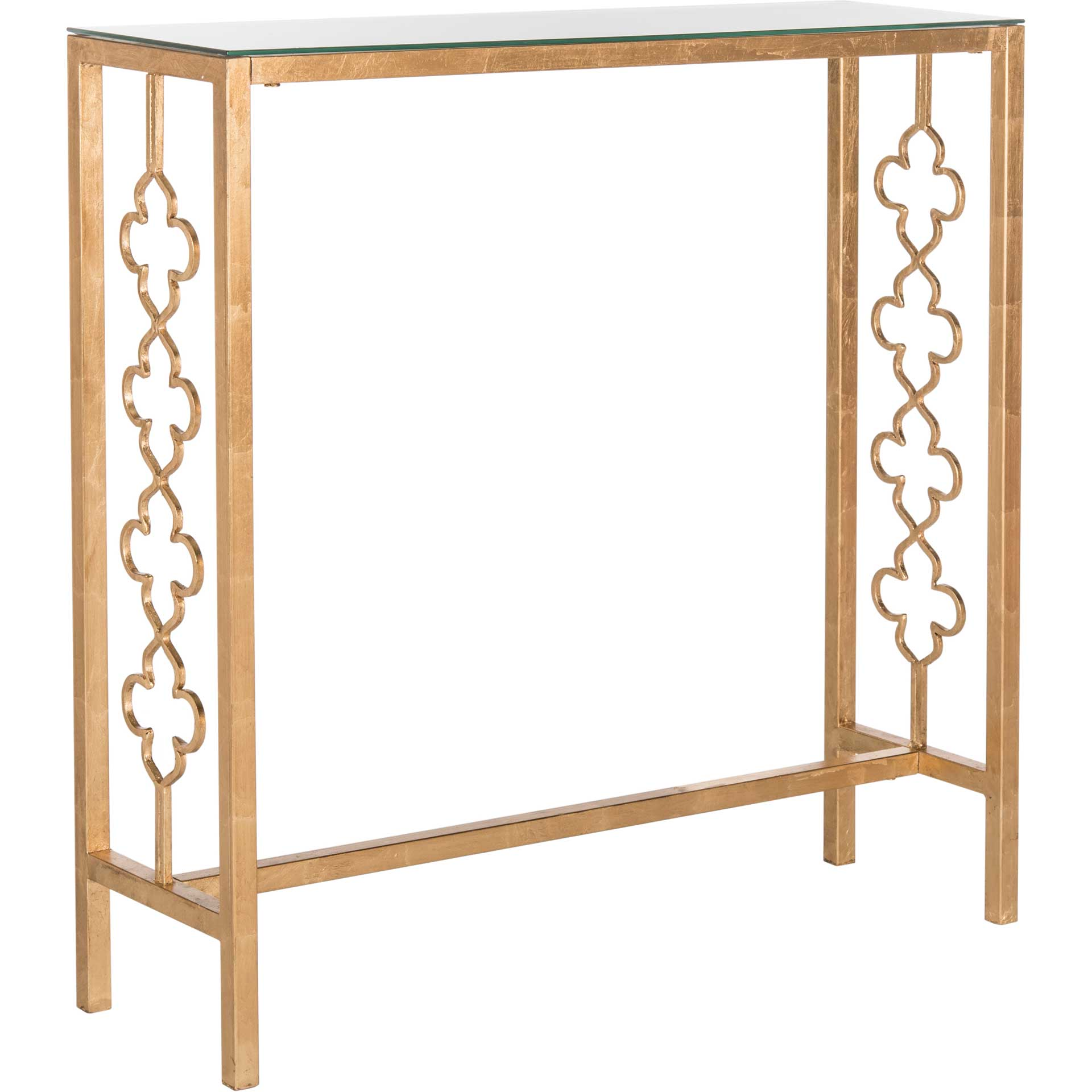 John Console Table Antique Gold