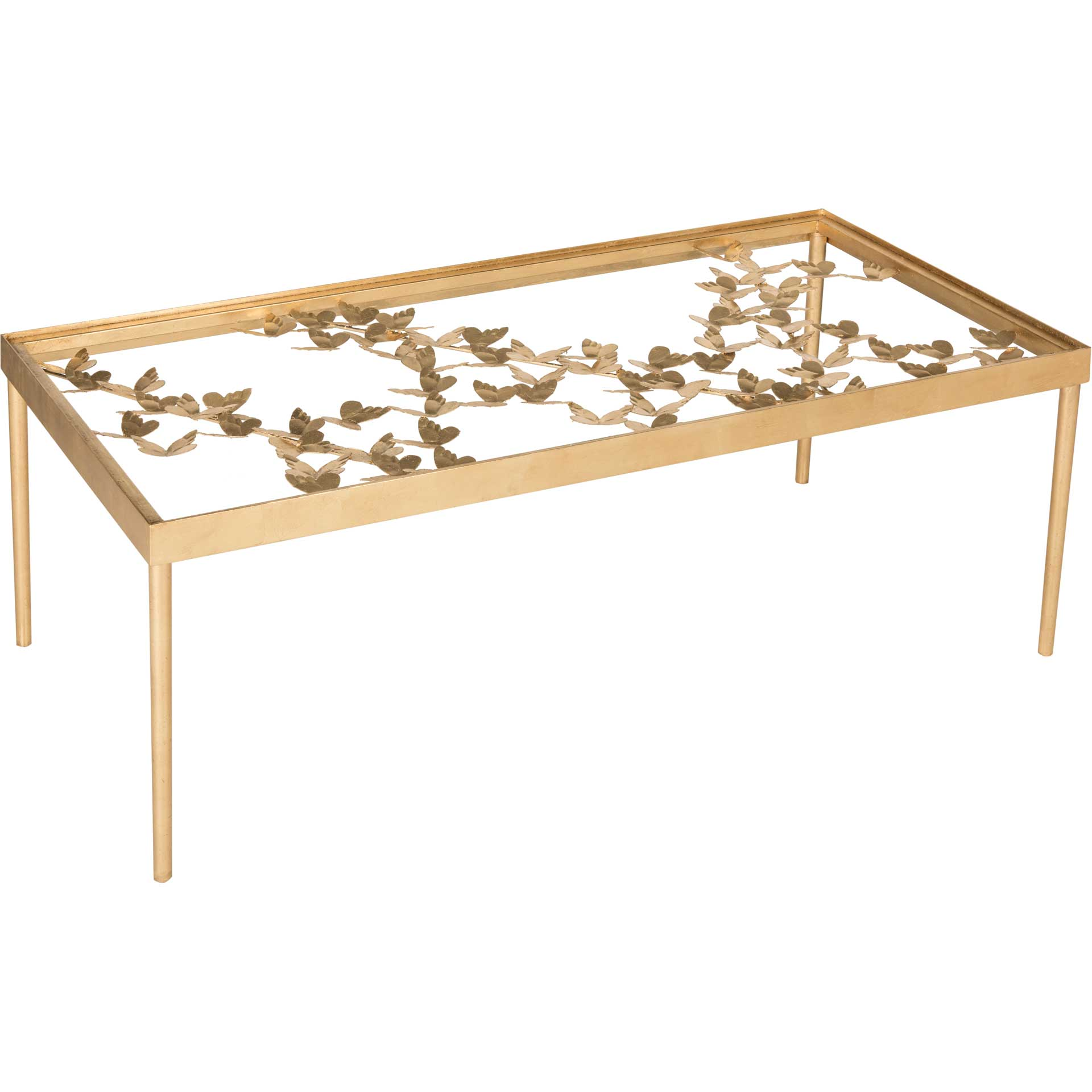 Rodney Butterfly Coffee Table Antique Gold