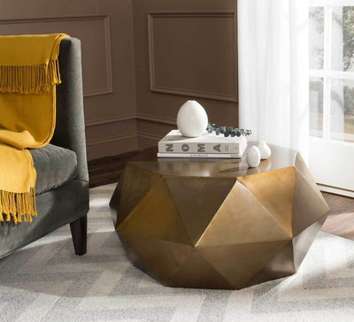 Aspen Faceted Coffee Table Brass