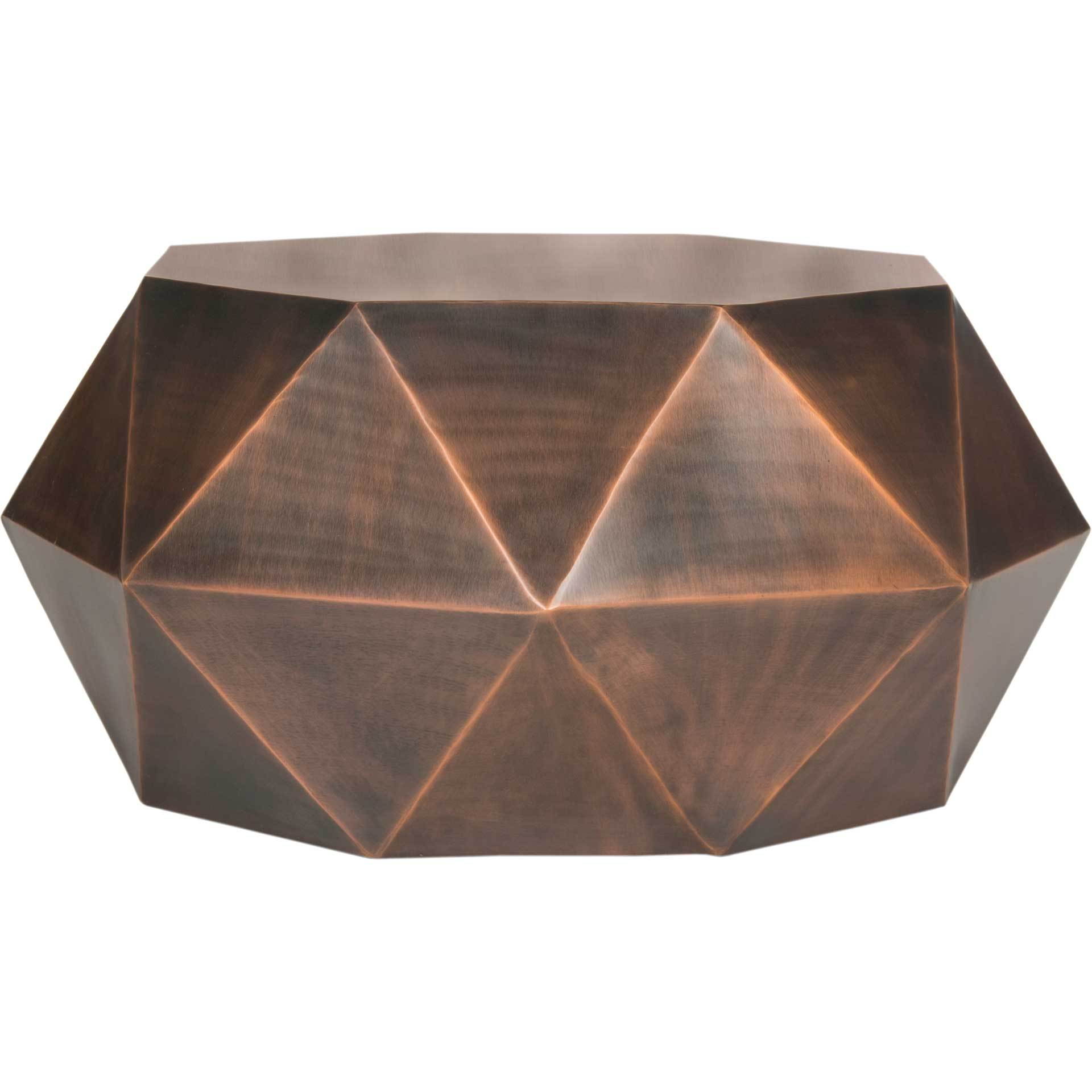 Aspen Faceted Coffee Table Copper
