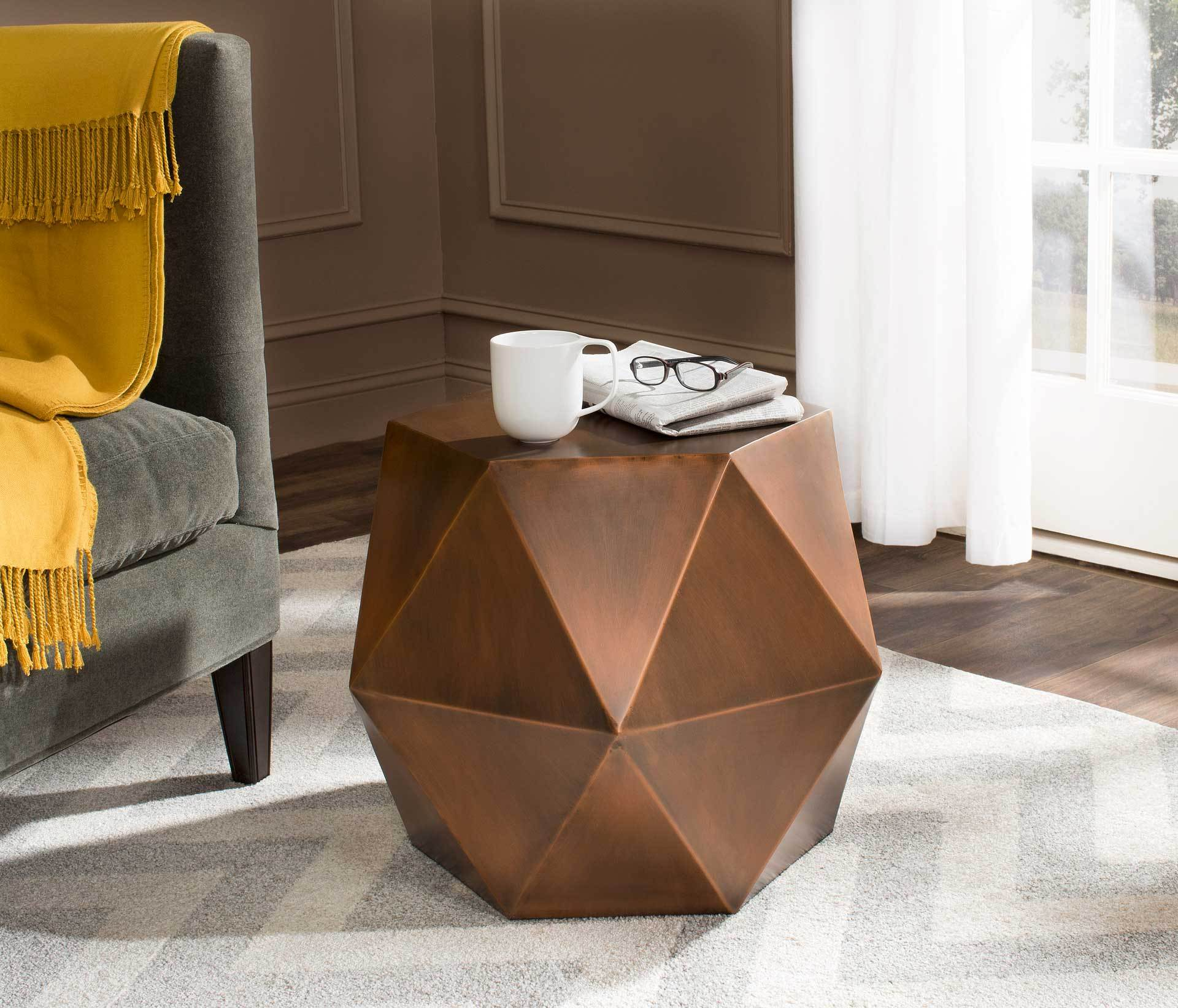 Aspen Faceted Side Table