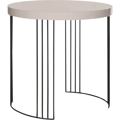 Keyon Lacquer Side Table Taupe