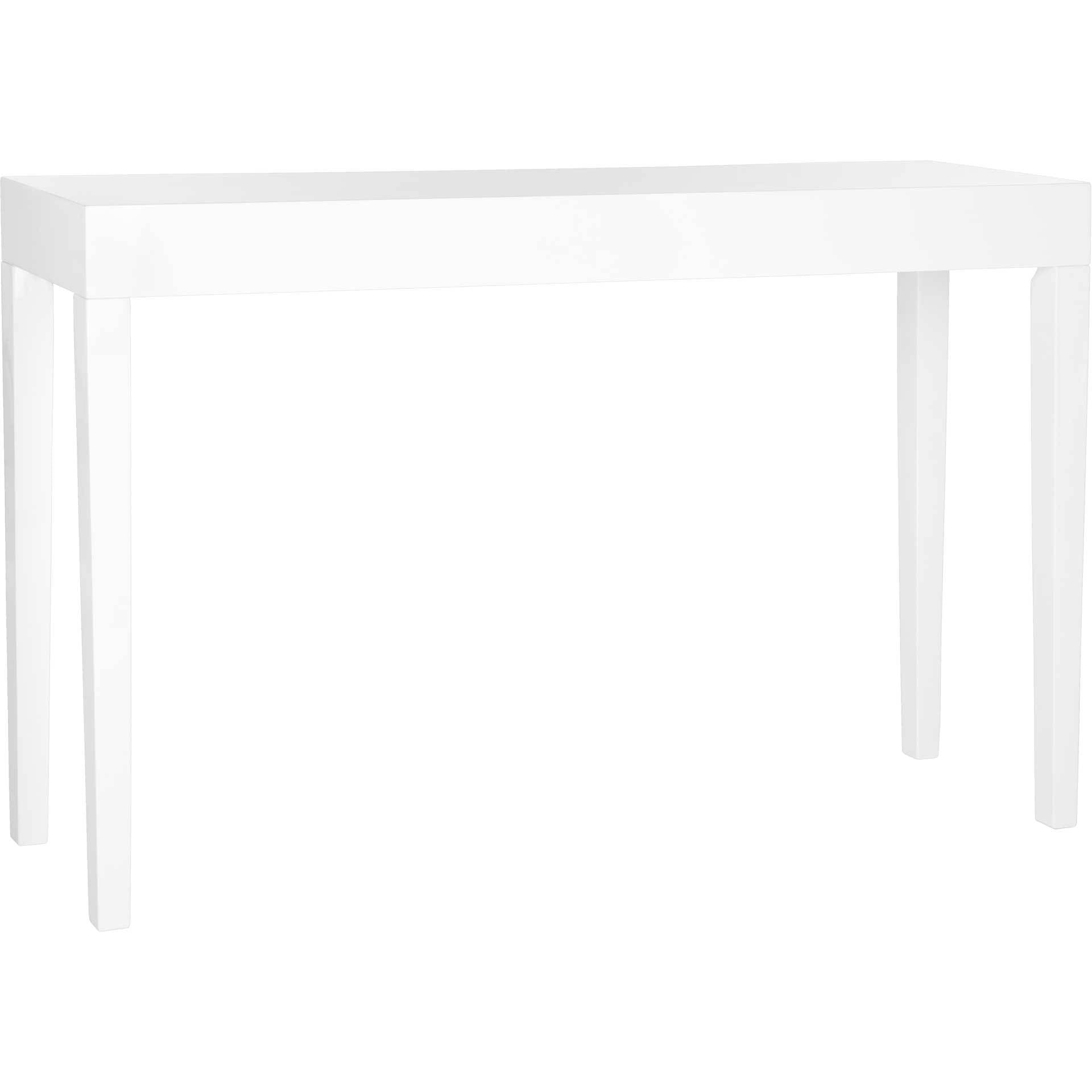 Kasey Lacquer Console Table White