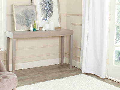 Kasey Wood Console Table Gray