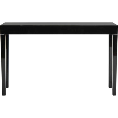 Kasey Lacquer Console Table Black
