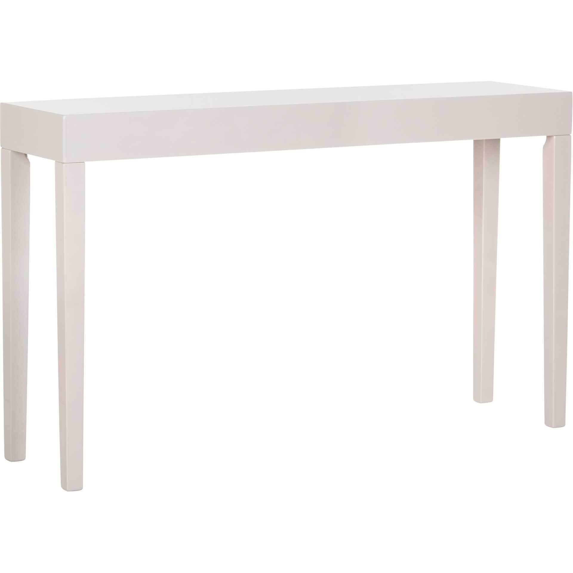 Kasey Lacquer Console Table Gray